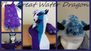water dragon collage